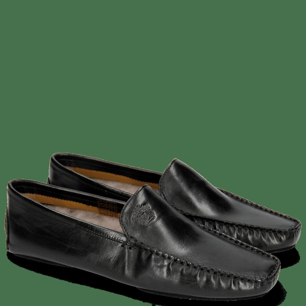 Loafers Home Donna Black Sock Fur