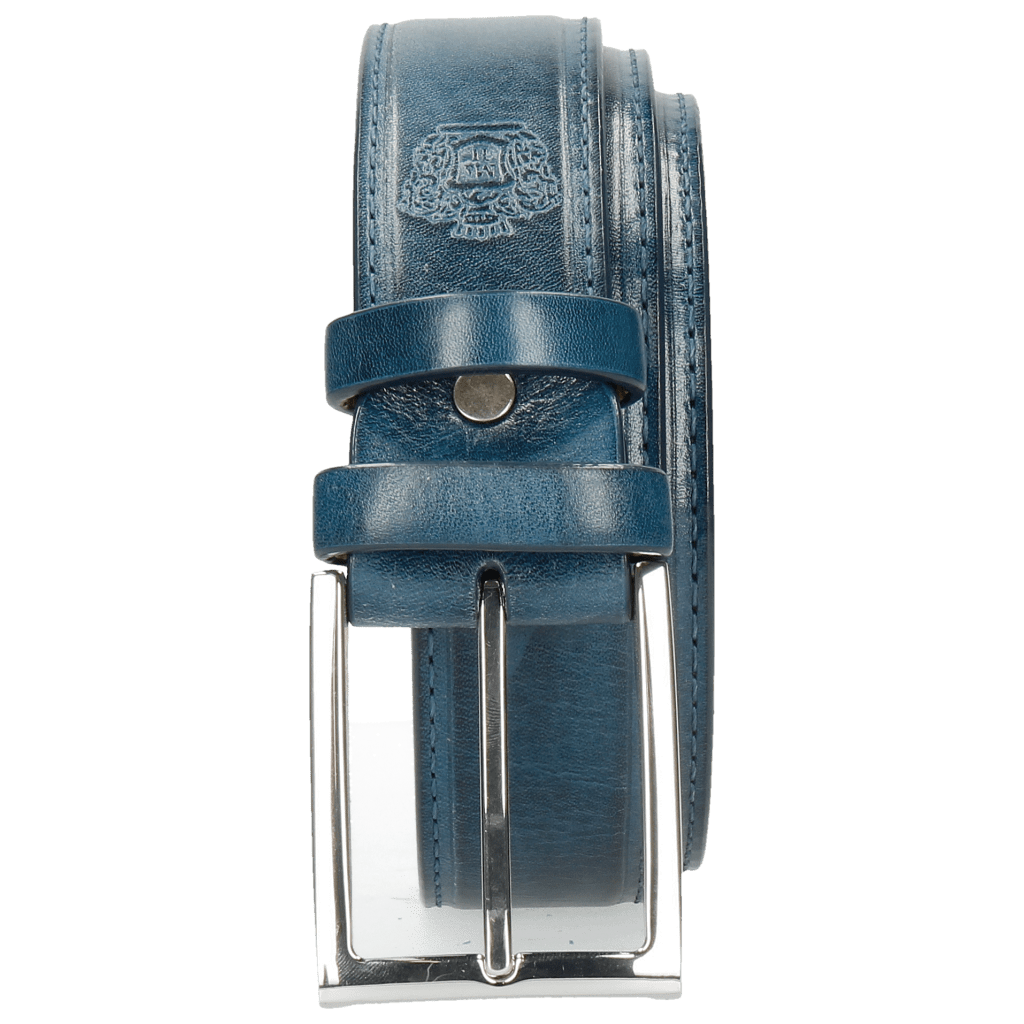 Belts Larry 1 Mid Blue Classic Buckle