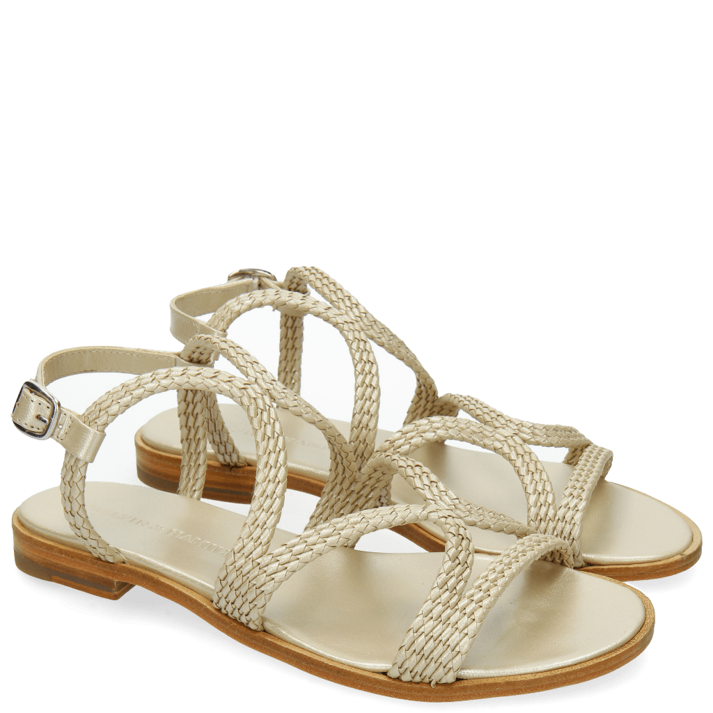 Sandals Sandra 28 Woven Mesh Pearlized