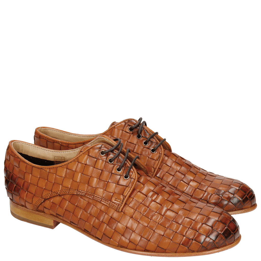 Derby shoes Sally 13 Woven Nappier Tan