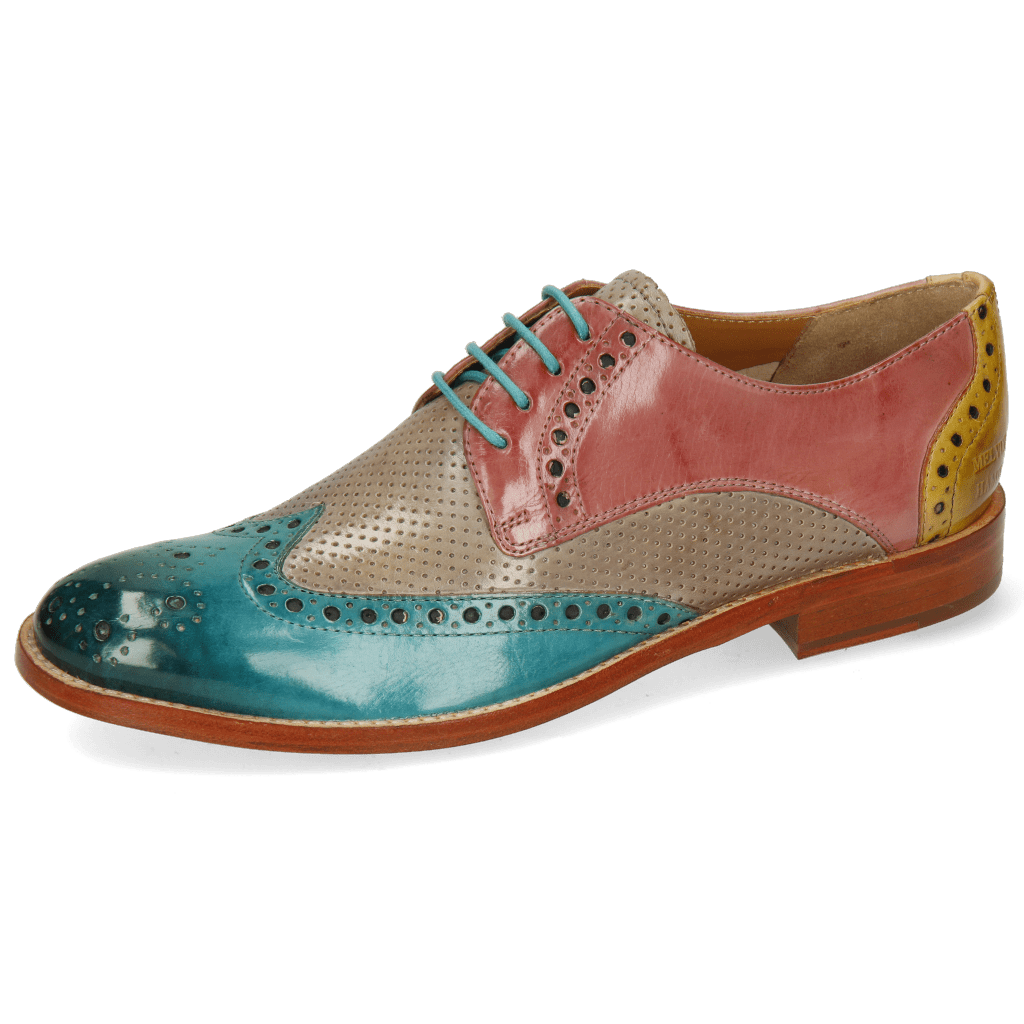 Derby shoes Amelie 3 Abyss Perfo Oxygen Rose Margarine