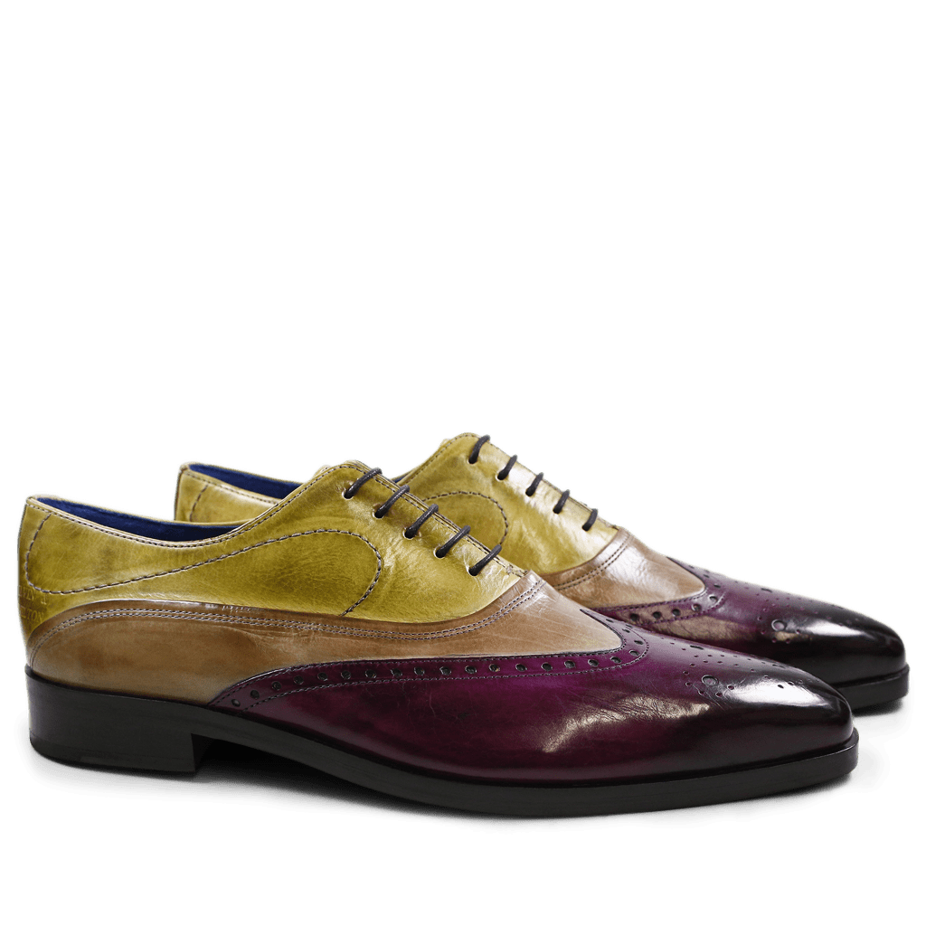 Oxford shoes Lewis 4 Eggplant Marble Cedro