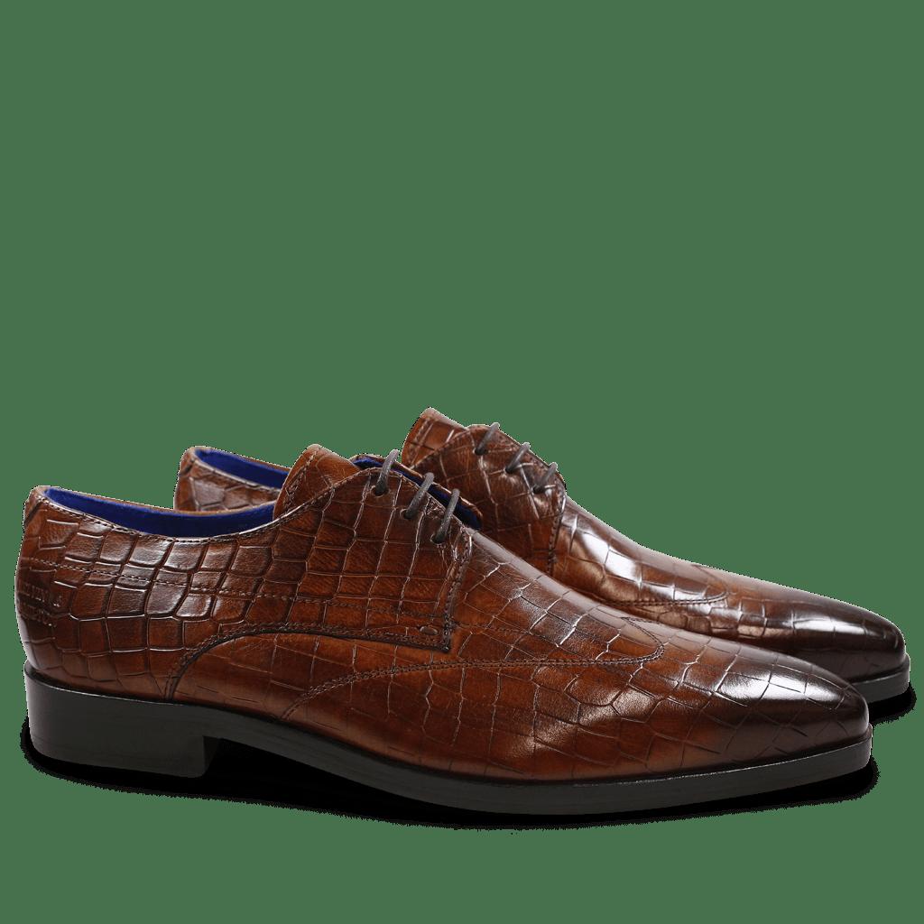 Derby shoes Lewis 9 Crock Wood LS Brown