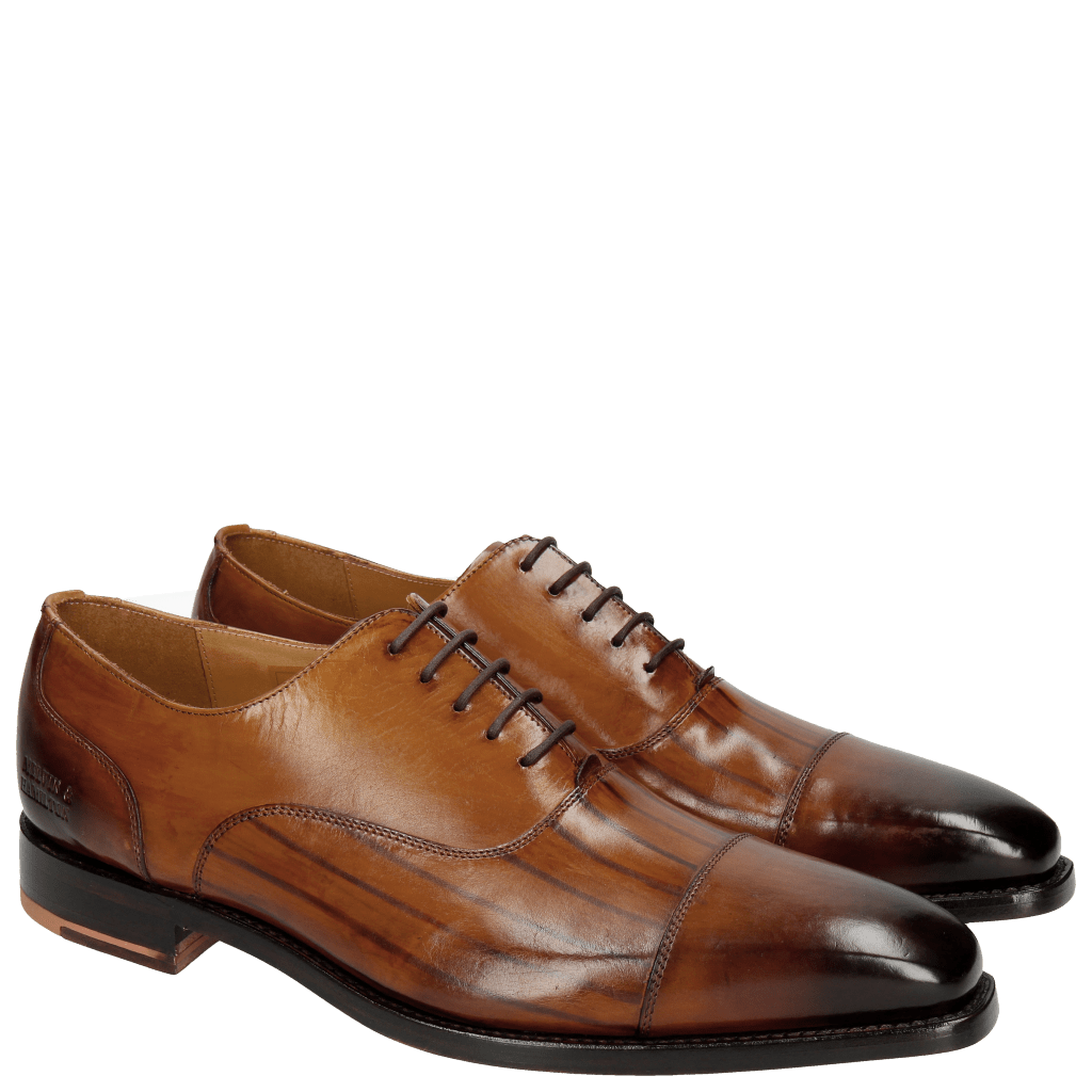Oxford shoes Kylian 1 Cognac LS Washed