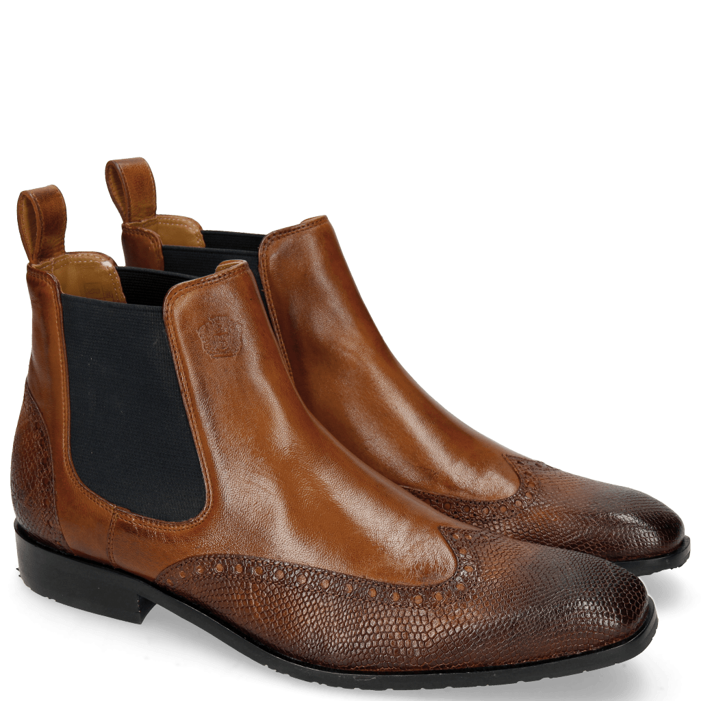 Ankle boots Rico 12 Venice Python Mid Brown Rio Wood