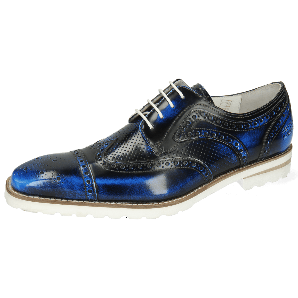 Derby shoes Clark 45 Brush Off Perfo Blue