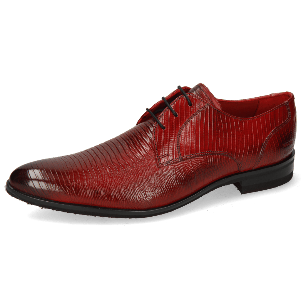 Derby shoes Toni 1 Lizzard Ruby