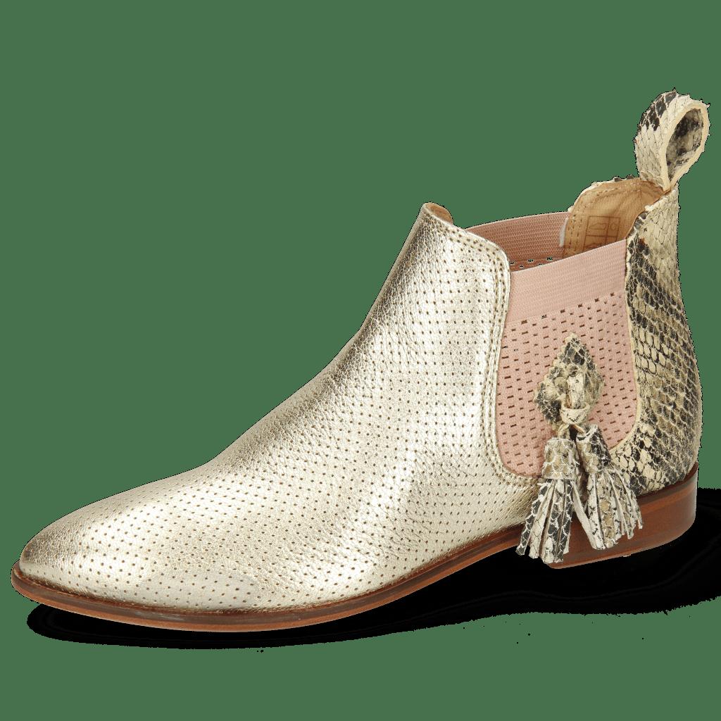Ankle boots Jessy 57 Idra Perfo Platin Snake