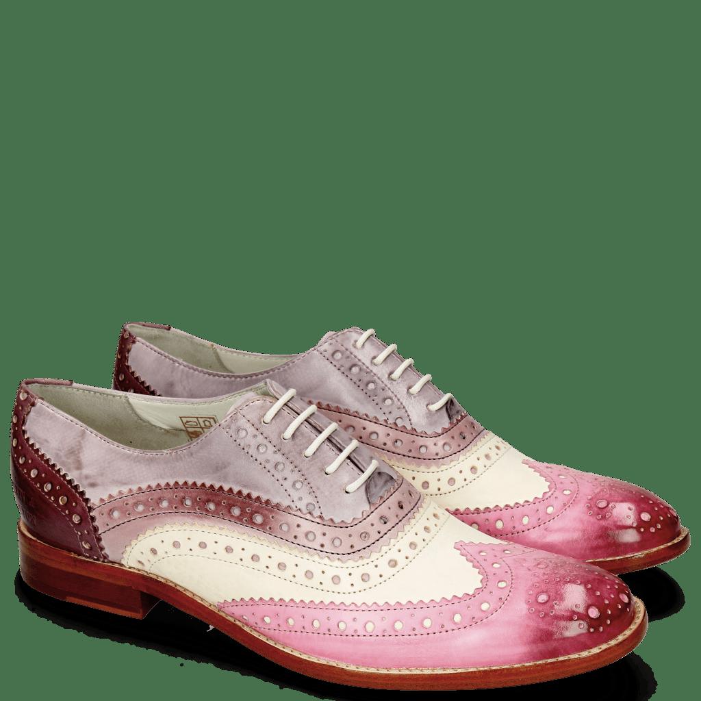 Derby shoes Amelie 10 Vegas Lilac White Light Purple Pale Lila