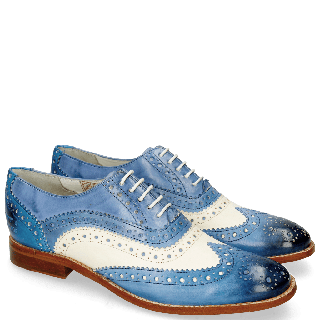 Oxford shoes Amelie 10 Vegas Neptune Blue White Moroccan Blue