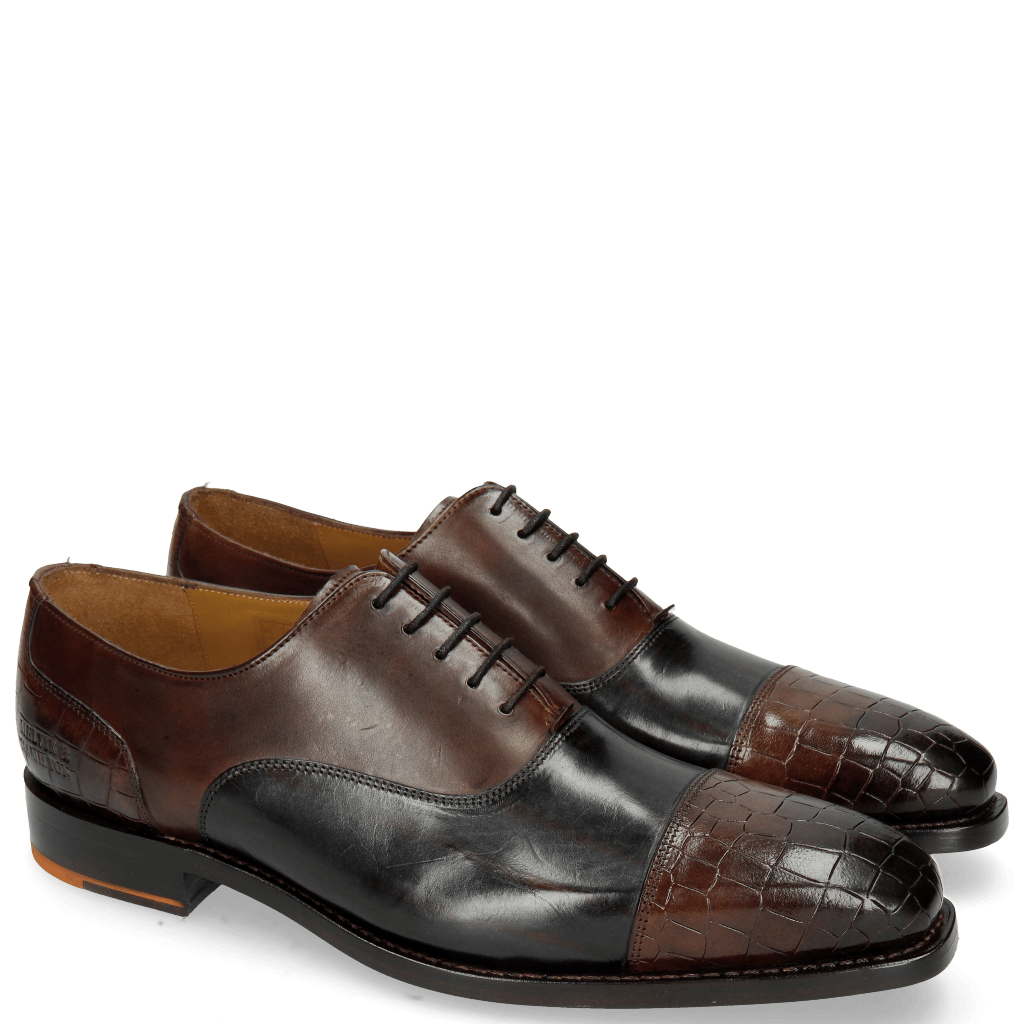 Oxford shoes Kylian 1 Crock Mogano Ruby Lines Navy