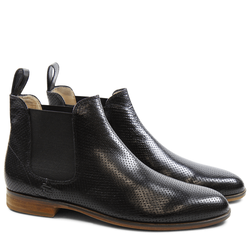 Ankle boots Susan 10 Salerno Perfo Black Elastic Black LS