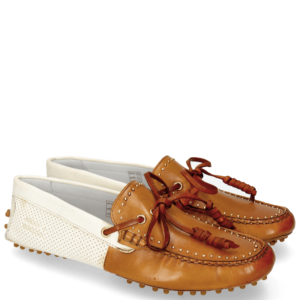 Loafers Caroline 8 Vegas Cuoio Washed White