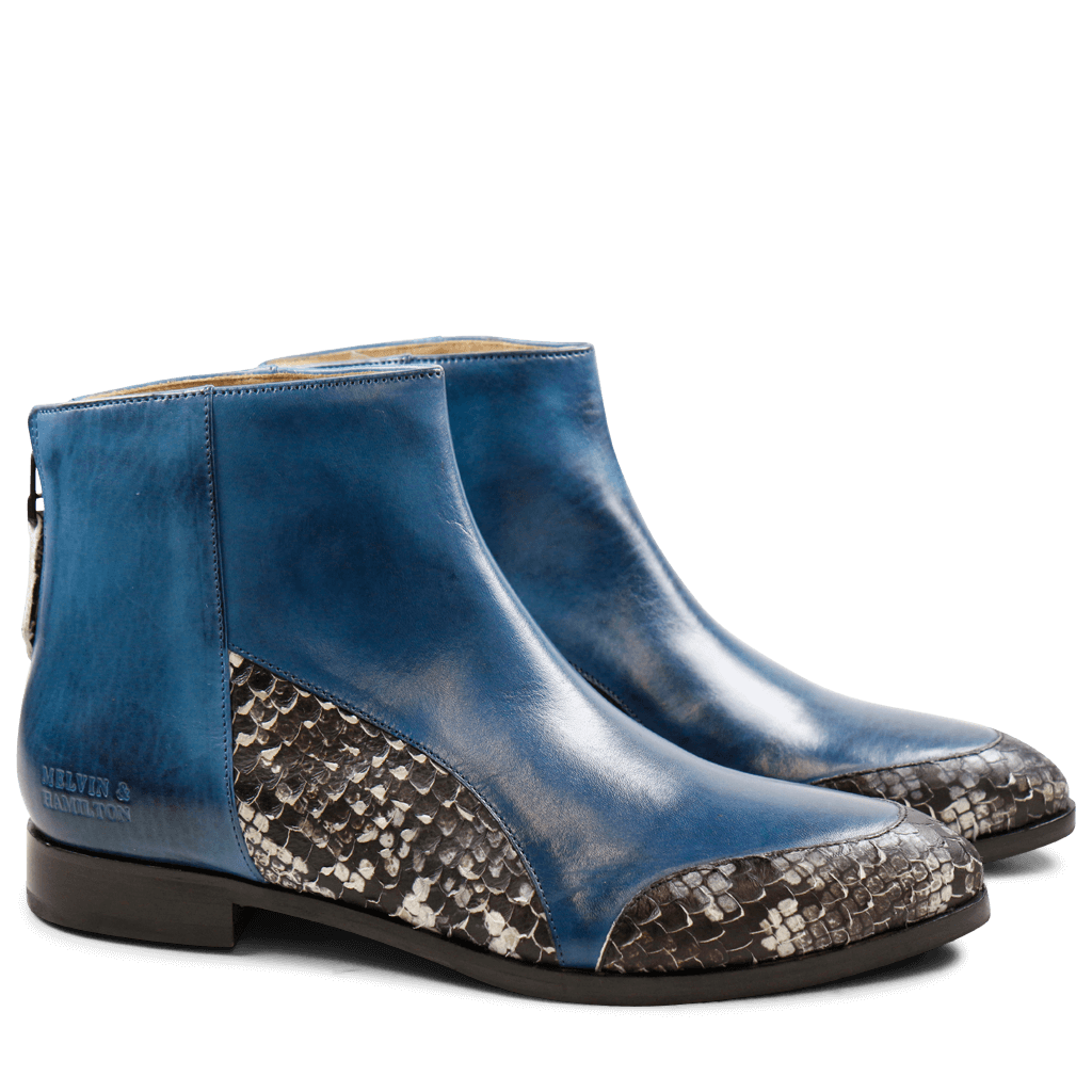 Ankle boots Jessy 12 Phyton Blue Crust Mid Blue HRS