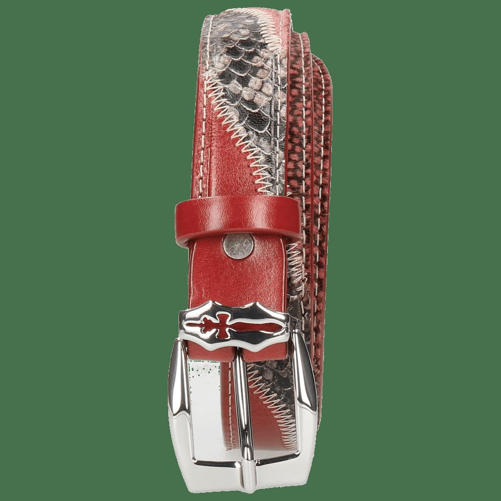 Belts Linda 2 Snake Wine Hairon Halftone Wine Ruby Sword Buckle