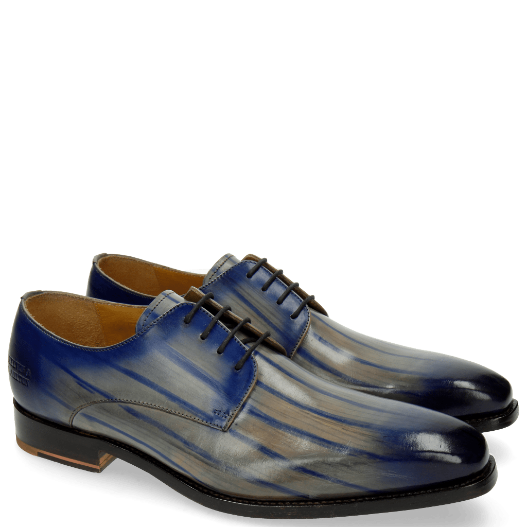 Derby shoes Kylian 4 Clear Water Lines Electric Blue