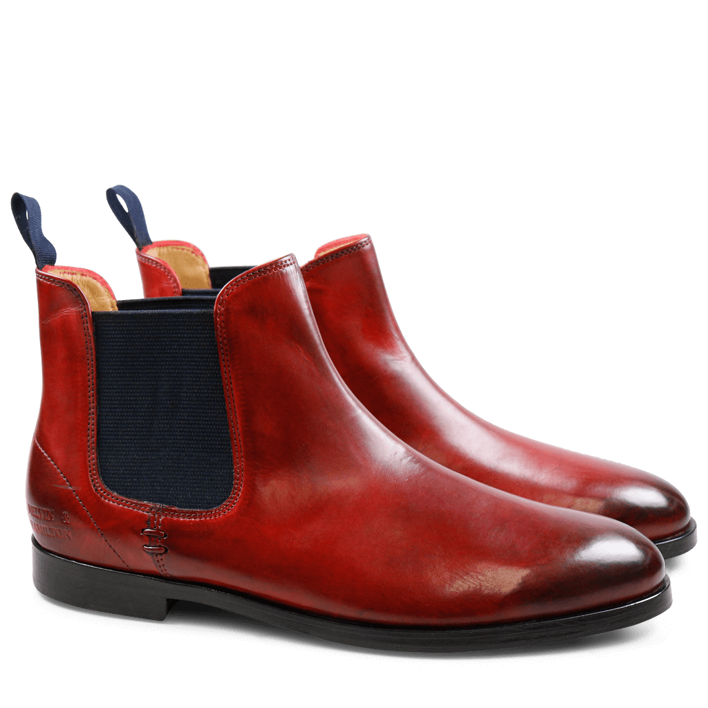 Ankle boots Susan 10 Crust Red Elastic Navy HRS