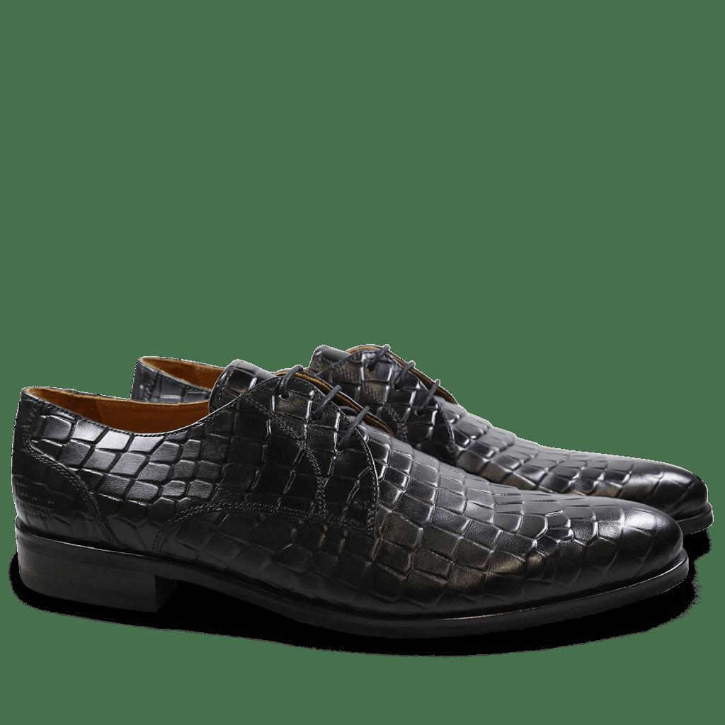 Derby shoes Toni 1 F T Crock Black Modica Black