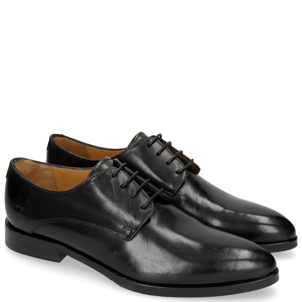 Derby shoes Jessy 5 Black Lining Rich Tan