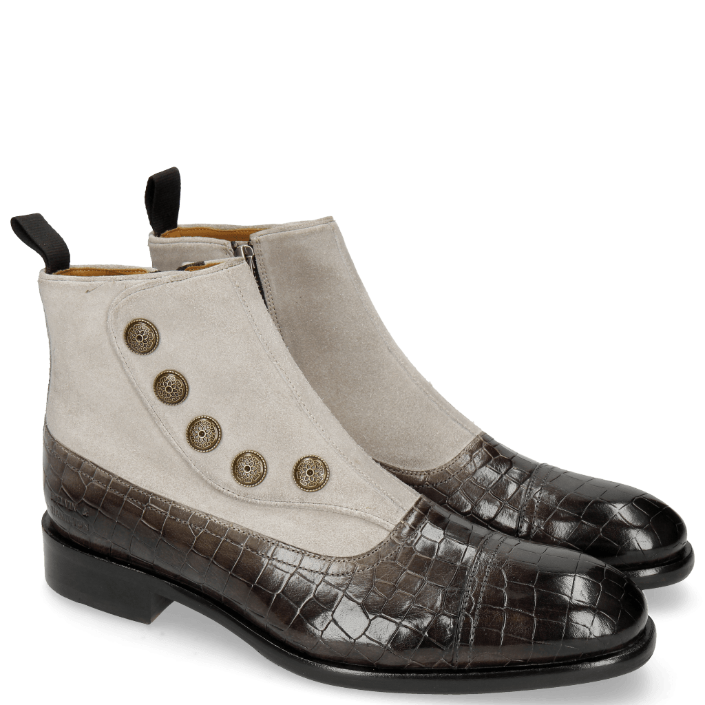 Ankle boots Patrick 23 Crock Grigio Suede Pattini Marmotta