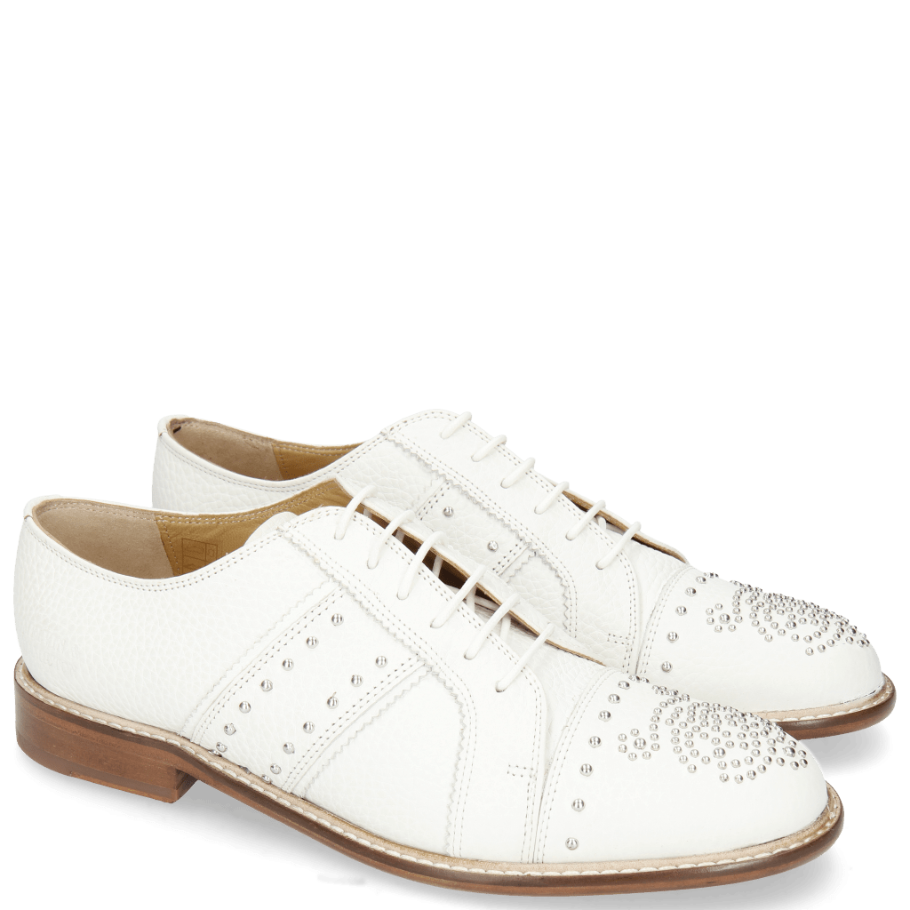 Derby shoes Sally 100 Milled White