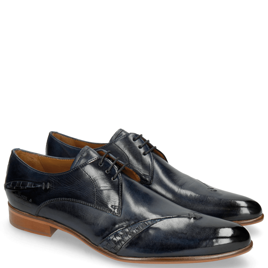 Derby shoes Toni 40 Woven Navy Lining Rich Tan