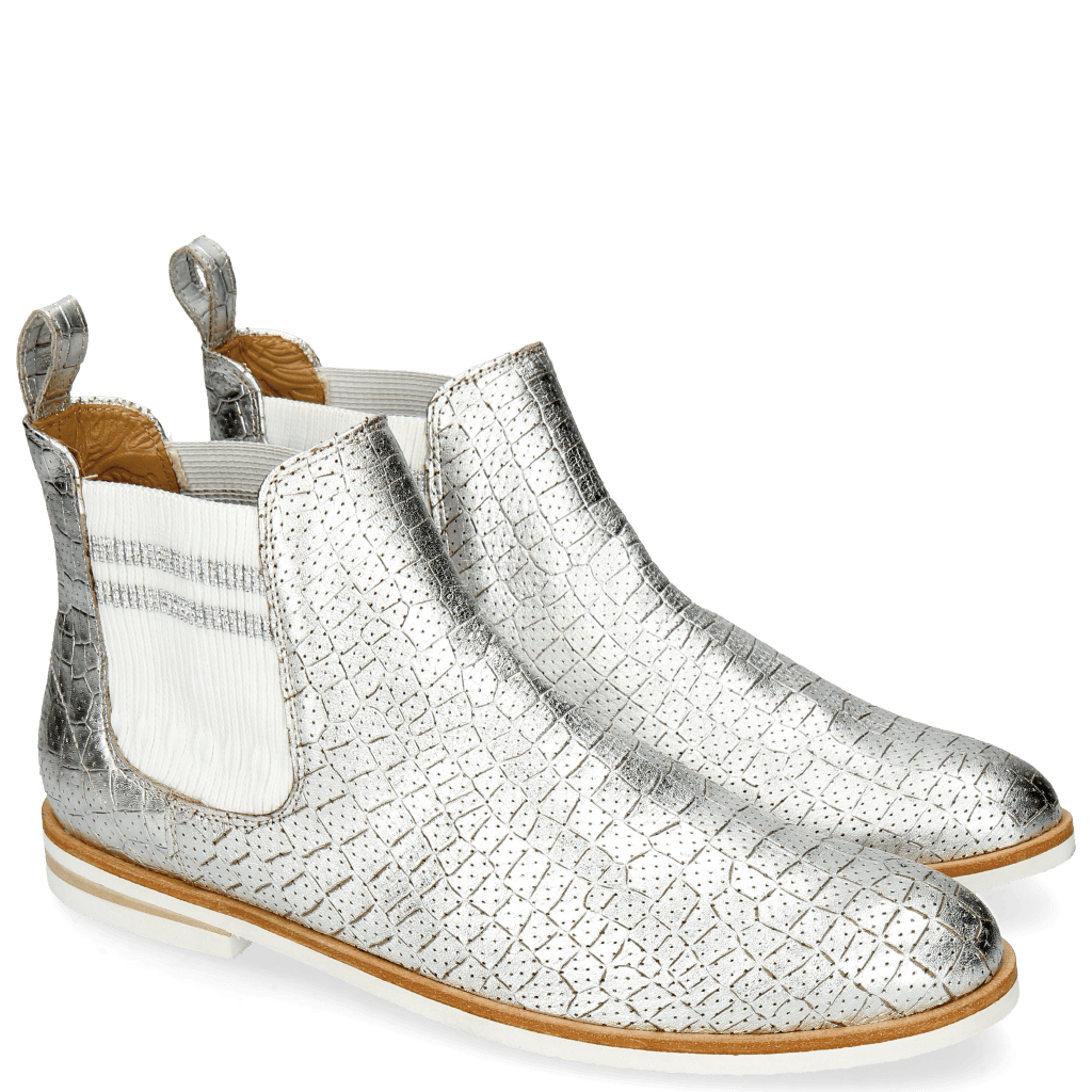 Ankle boots Susan 10 A Timor Perfo Silver