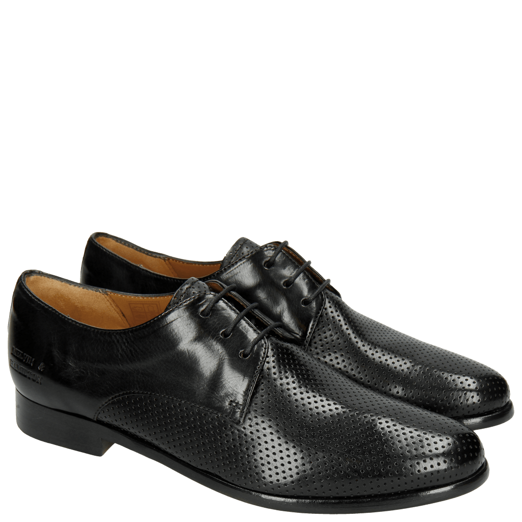 Derby shoes Selina 23 Perfo Black Rich Tan