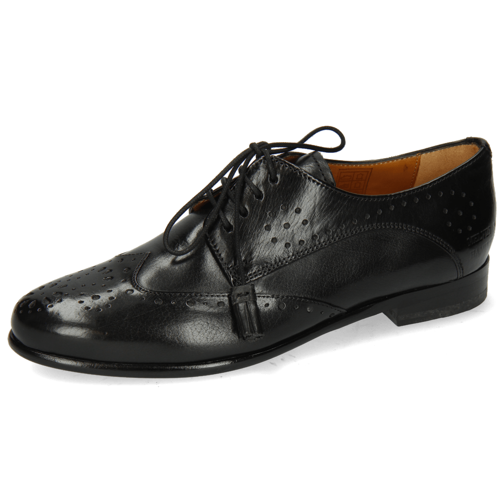 Derby shoes Selina 41 Black Lining Rich Tan