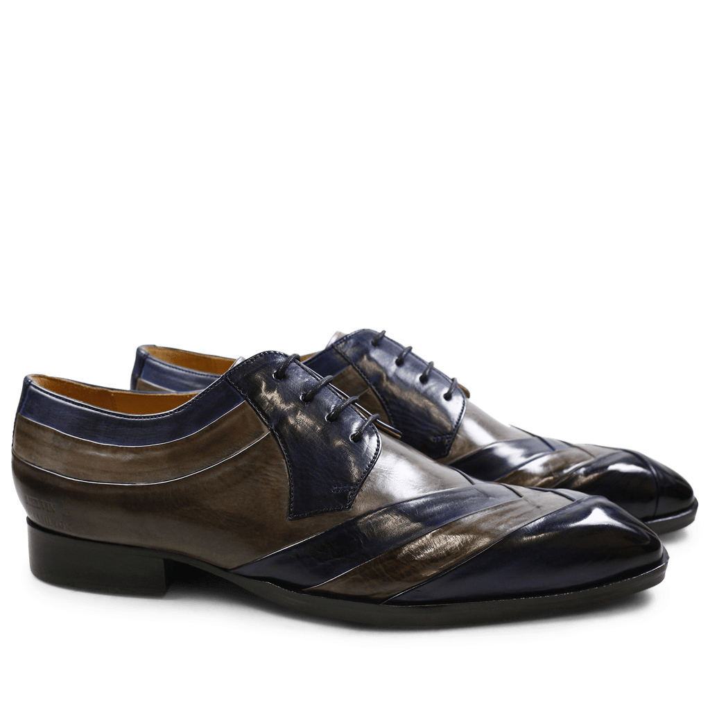 Derby shoes Ricky 8 Crust Navy Smoke LS Black