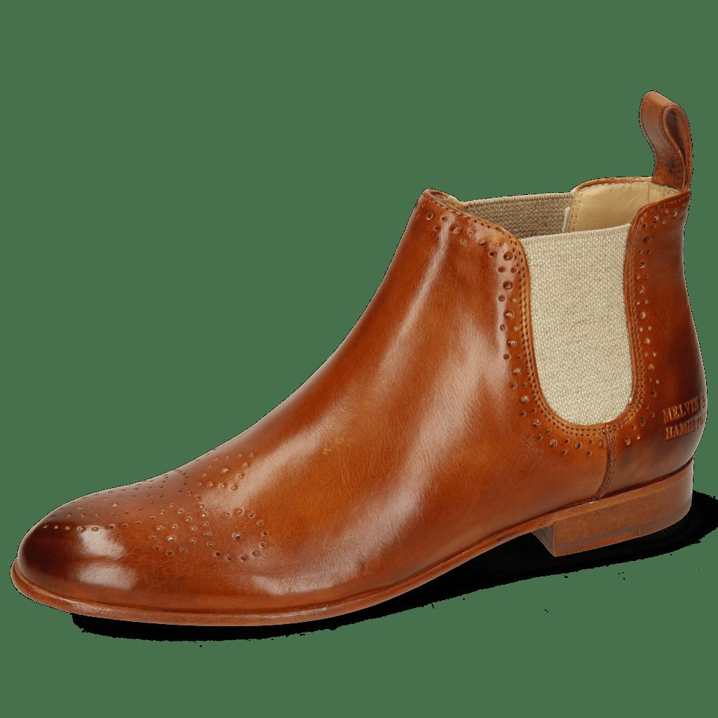 Ankle boots Sally 16 Imola Tan Elastic Lino