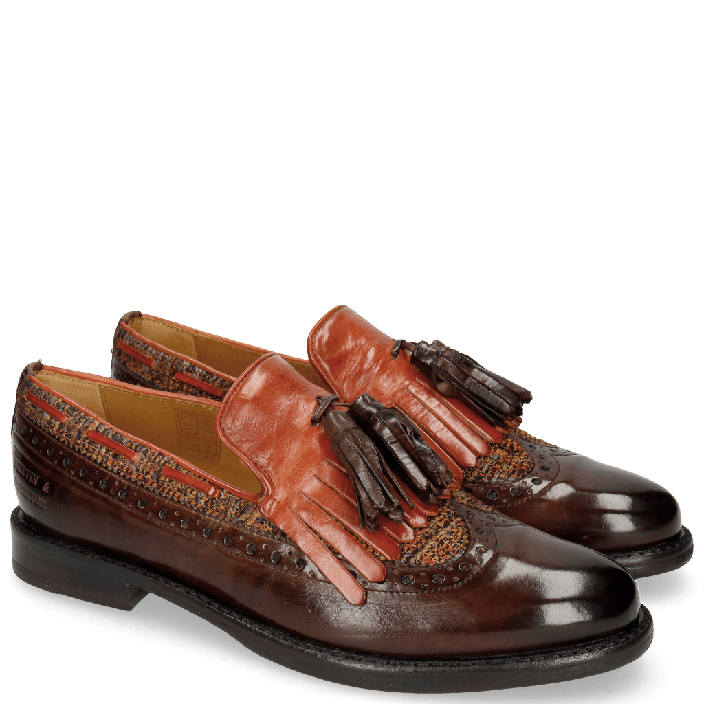 Loafers Selina 3 Mogano Winter Orange Tex Pixel