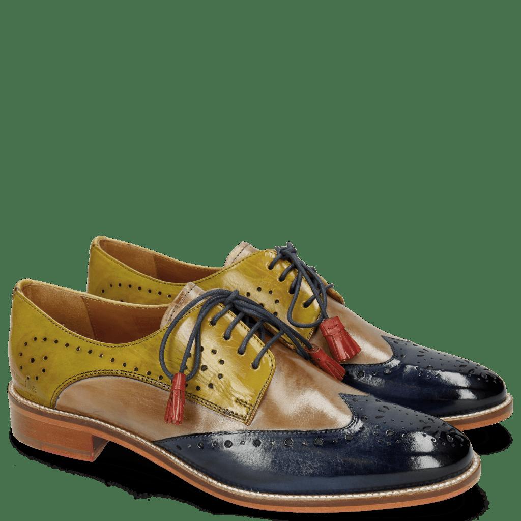 Derby shoes Betty 3 Marine Powder Sol