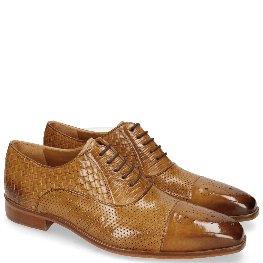 Oxford shoes Lance 55 Sand Perfo Guana Woven
