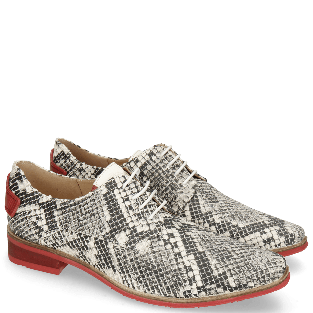 Derby shoes Ivy 4 Snake Nappa Ivory