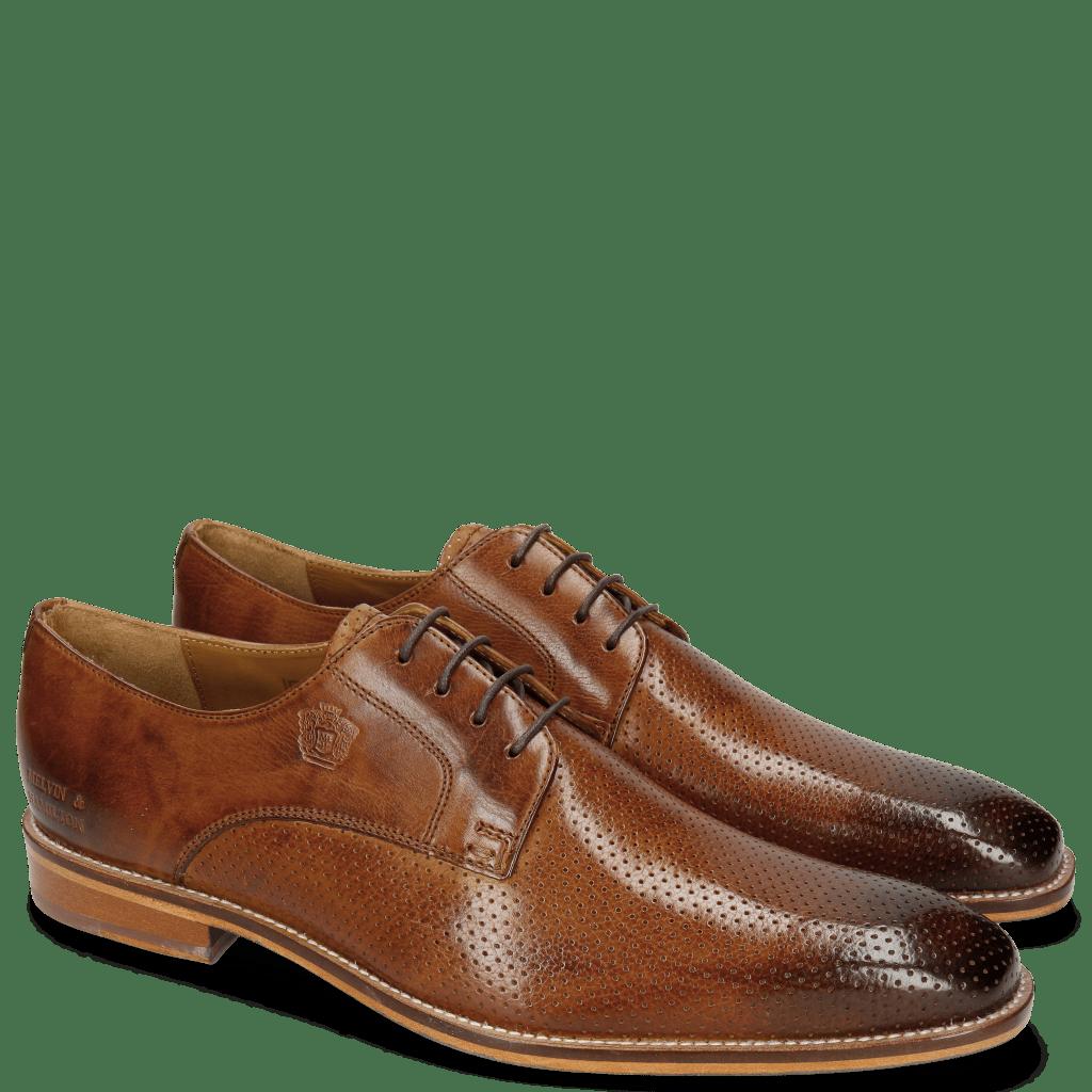 Derby shoes Martin 1 Berlin Perfo Tan