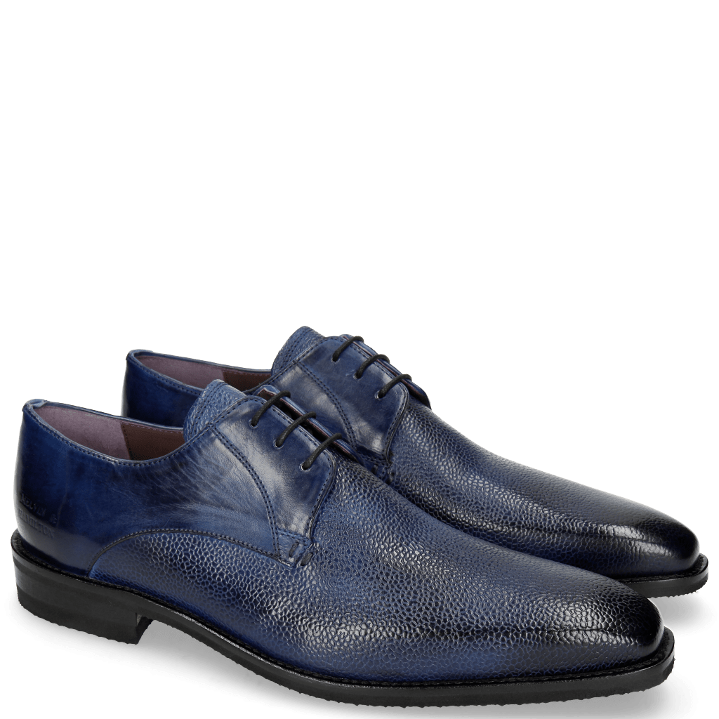 Derby shoes Lance 8 Scotch Grain China Blue Chestnut