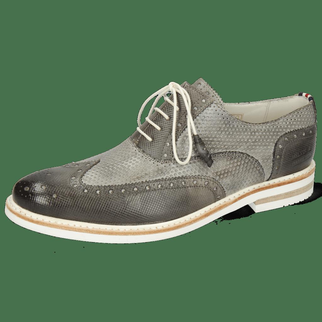 Oxford shoes Scott 12 Dice Grigio Vegas Perfo Oxygen