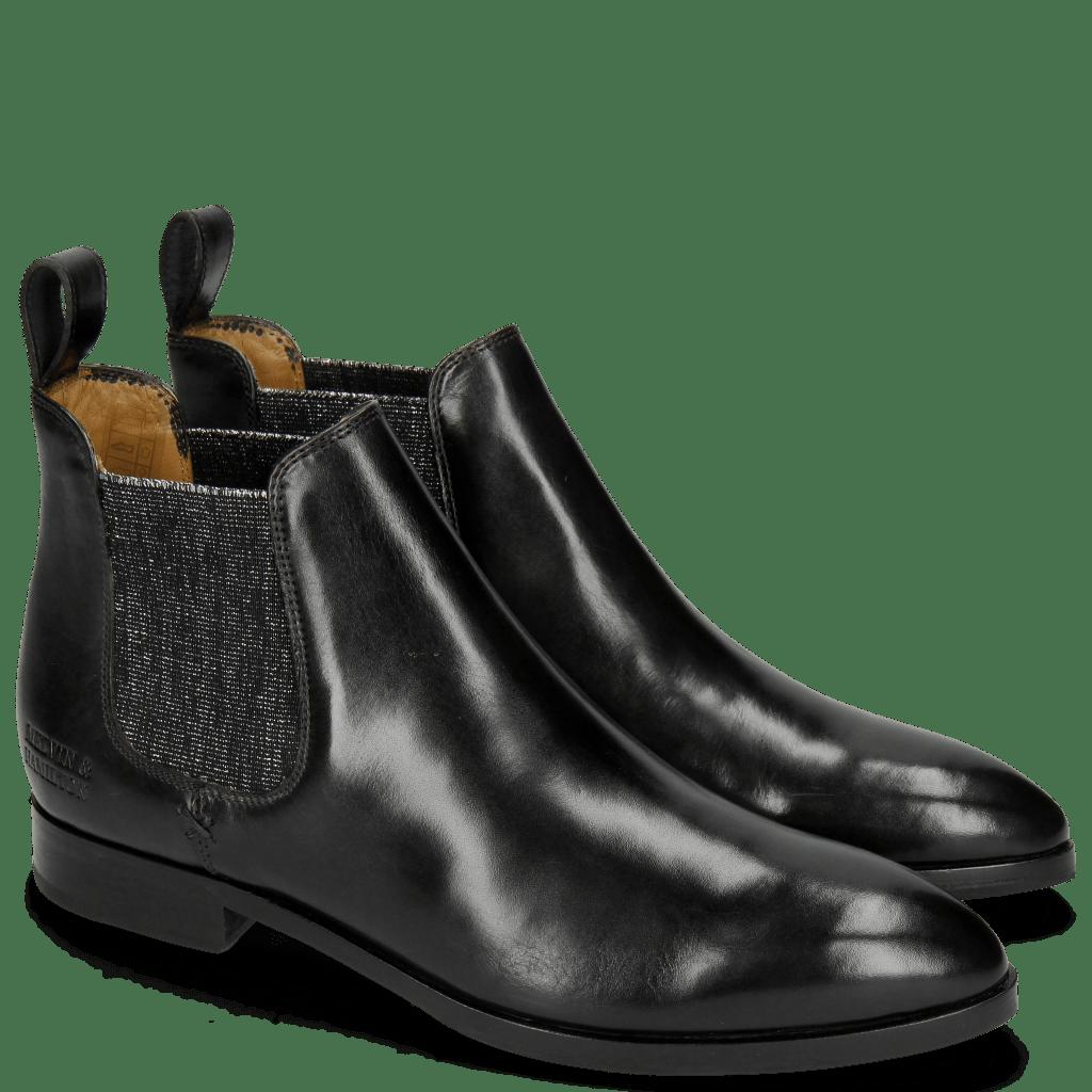 Ankle boots Jessy 1 Black Elastic Glitter