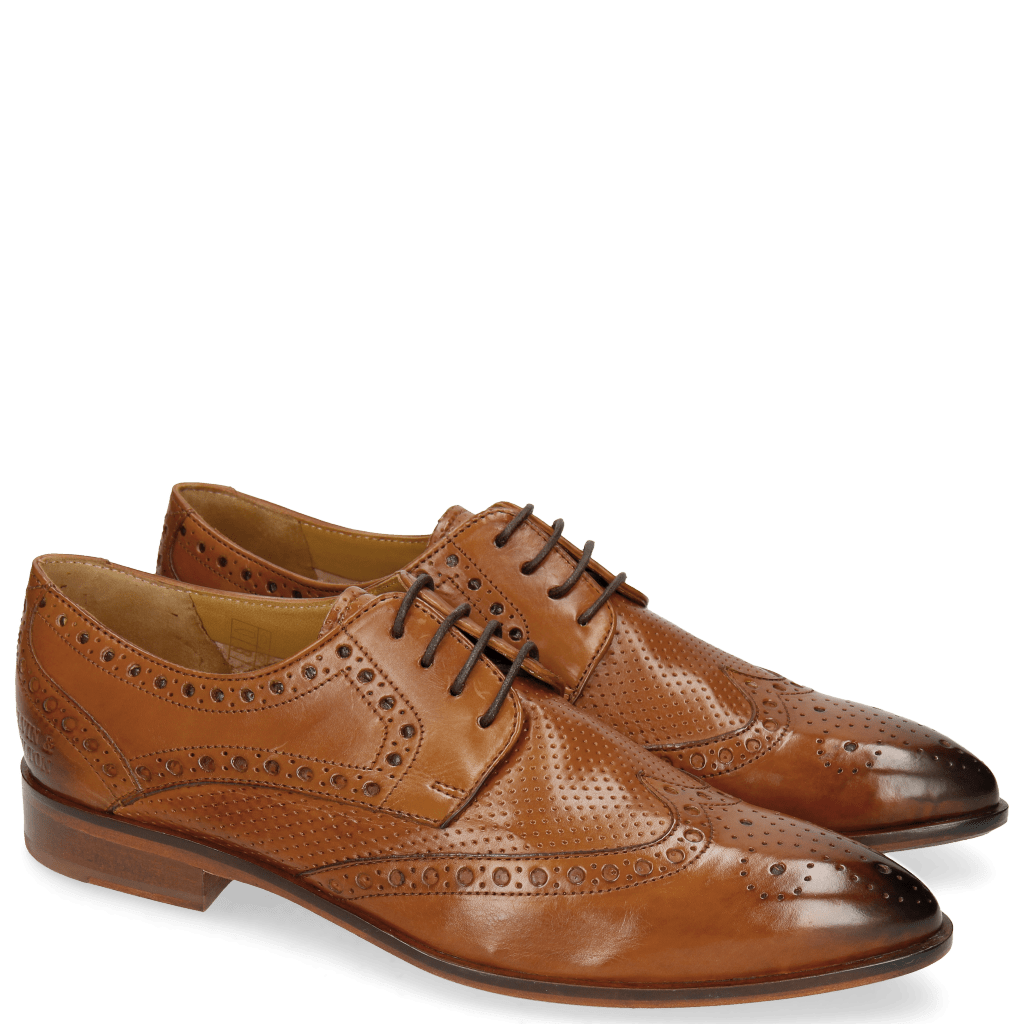 Derby shoes Jessy 6 Perfo Cuoio Rich Tan Collar