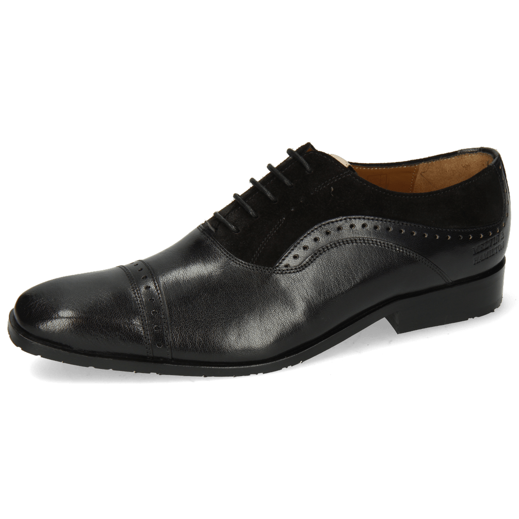 Oxford shoes Rico 42 Rio Black Suede Pattini Black Patch