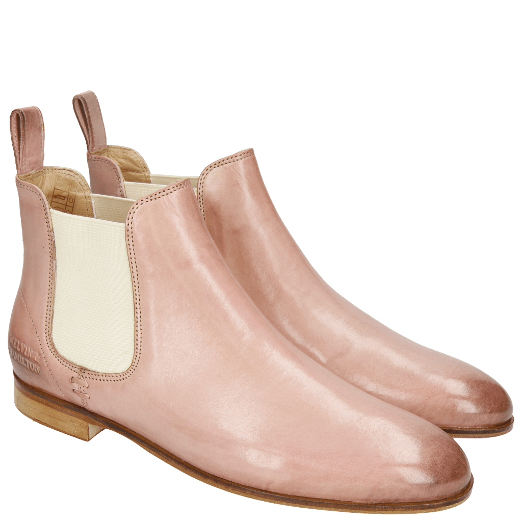 Ankle boots Susan 10  Rose Elastic Off White