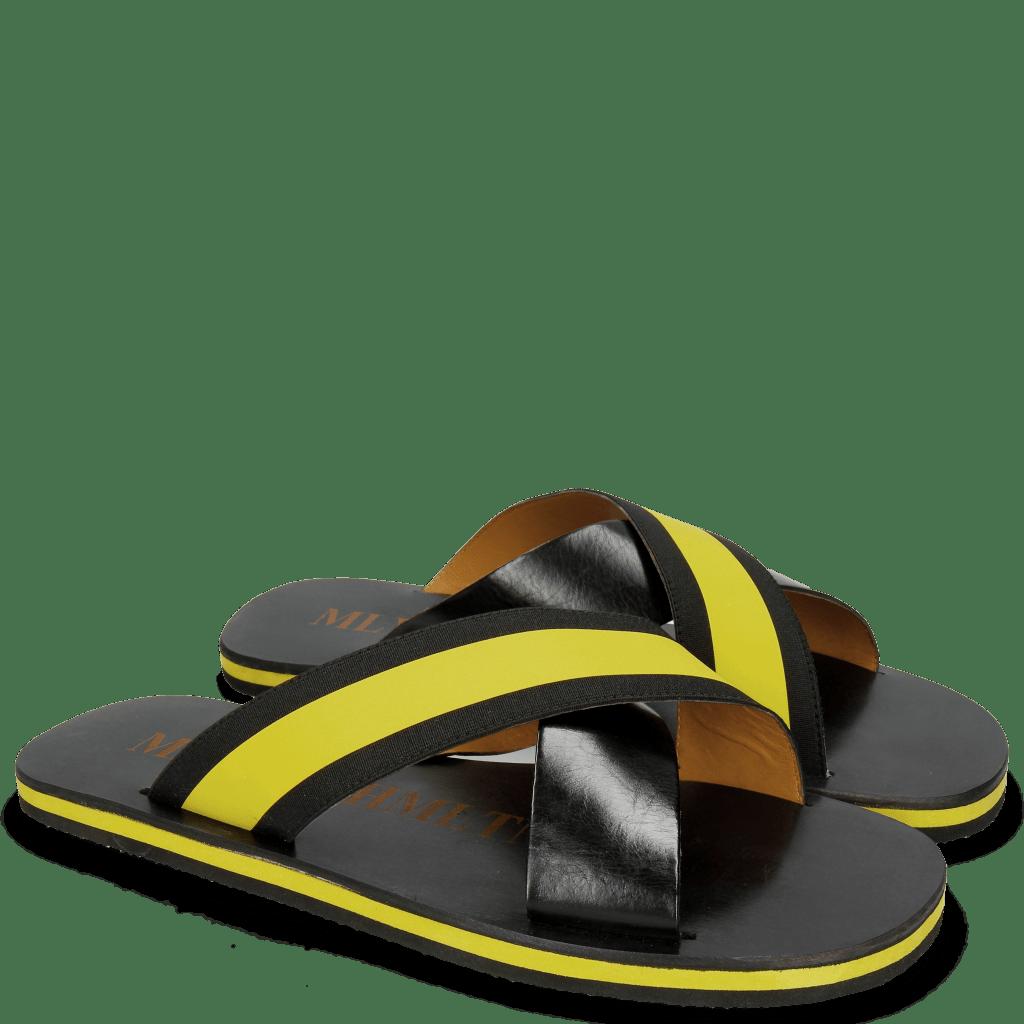 Sandals Sam 5 Black Elastic Rifra