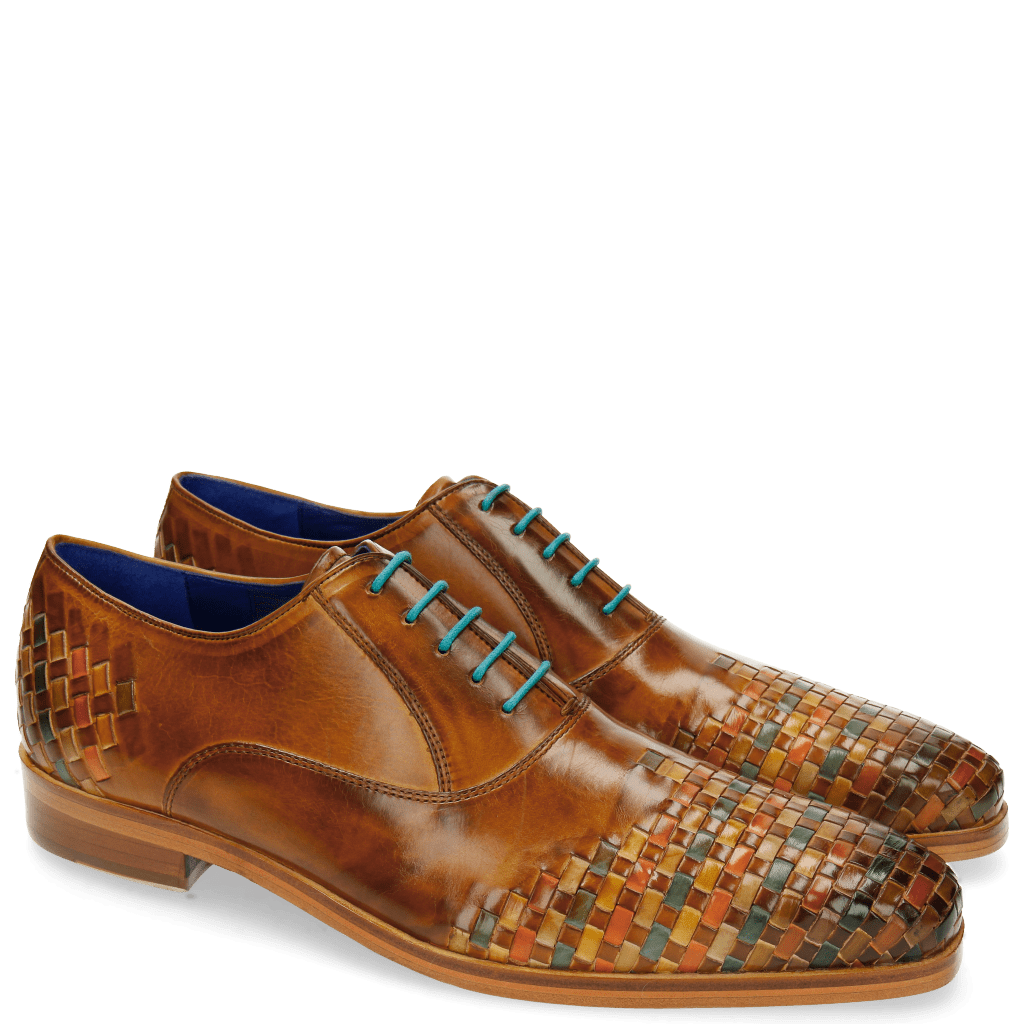 Oxford shoes Lewis 17 Cognac Interlaced Multi