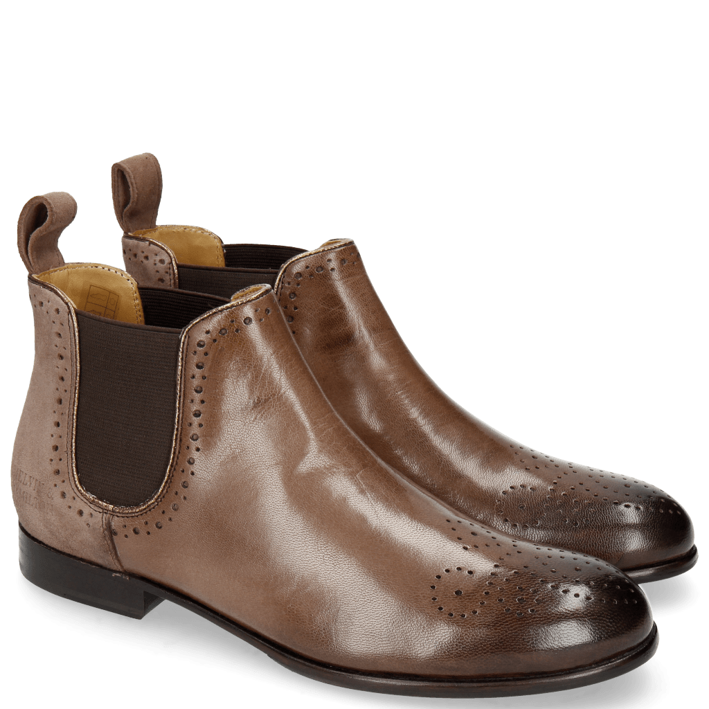 Ankle boots Sally 16 Salerno Chestnut Suede Oily