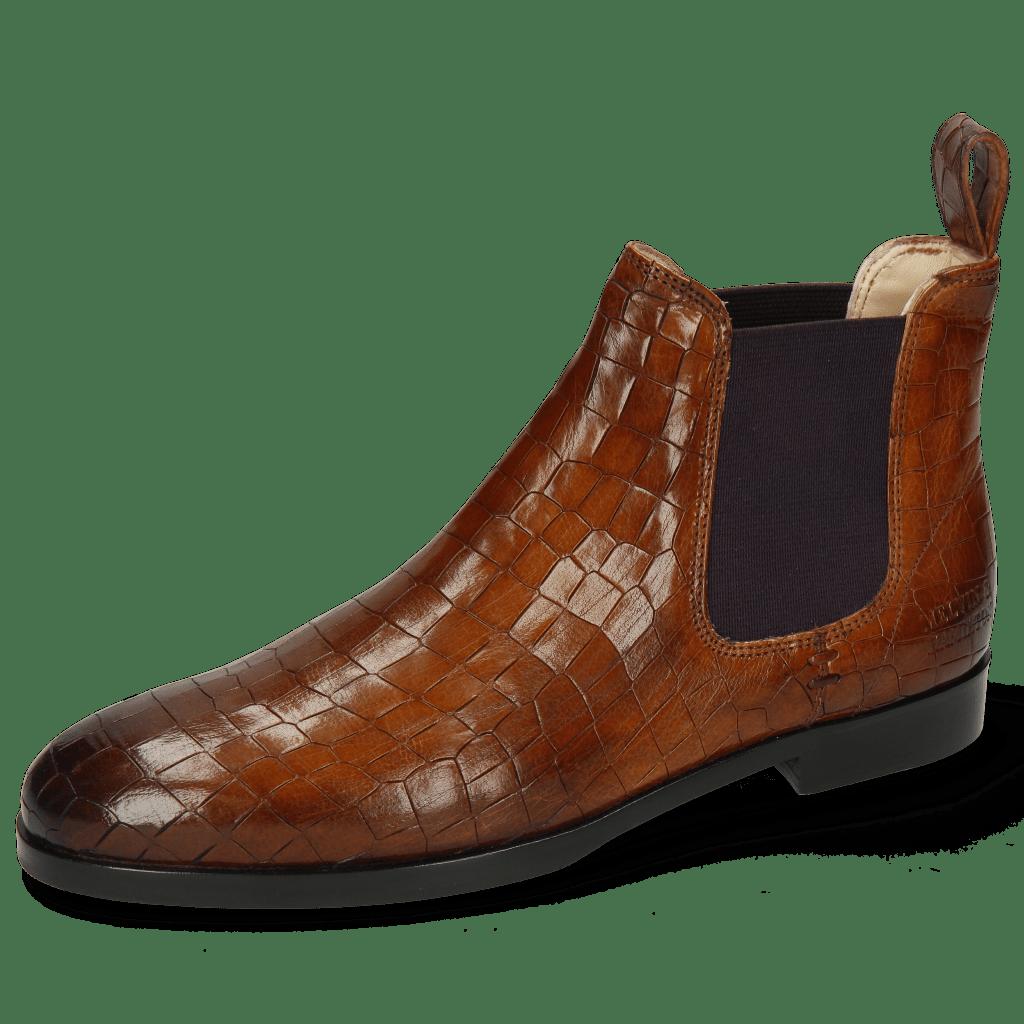 Ankle boots Susan 10 Crock Wood Elastic Purple Lining