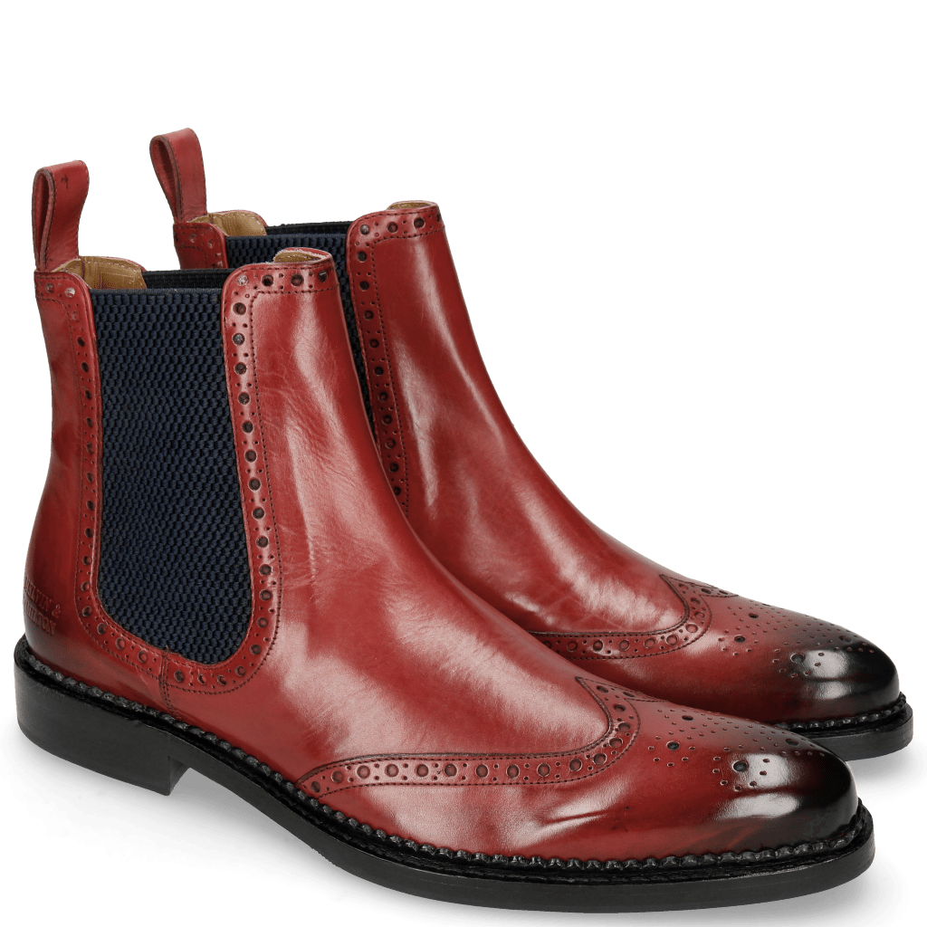 Ankle boots Erol 32 Ruby Elastic Honey Comb Navy