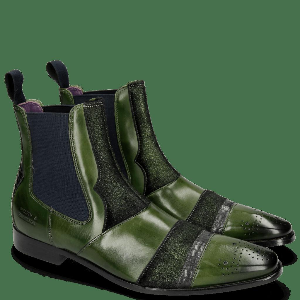 Ankle boots Elvis 12 Ultra Green Wellington Lead Hair On