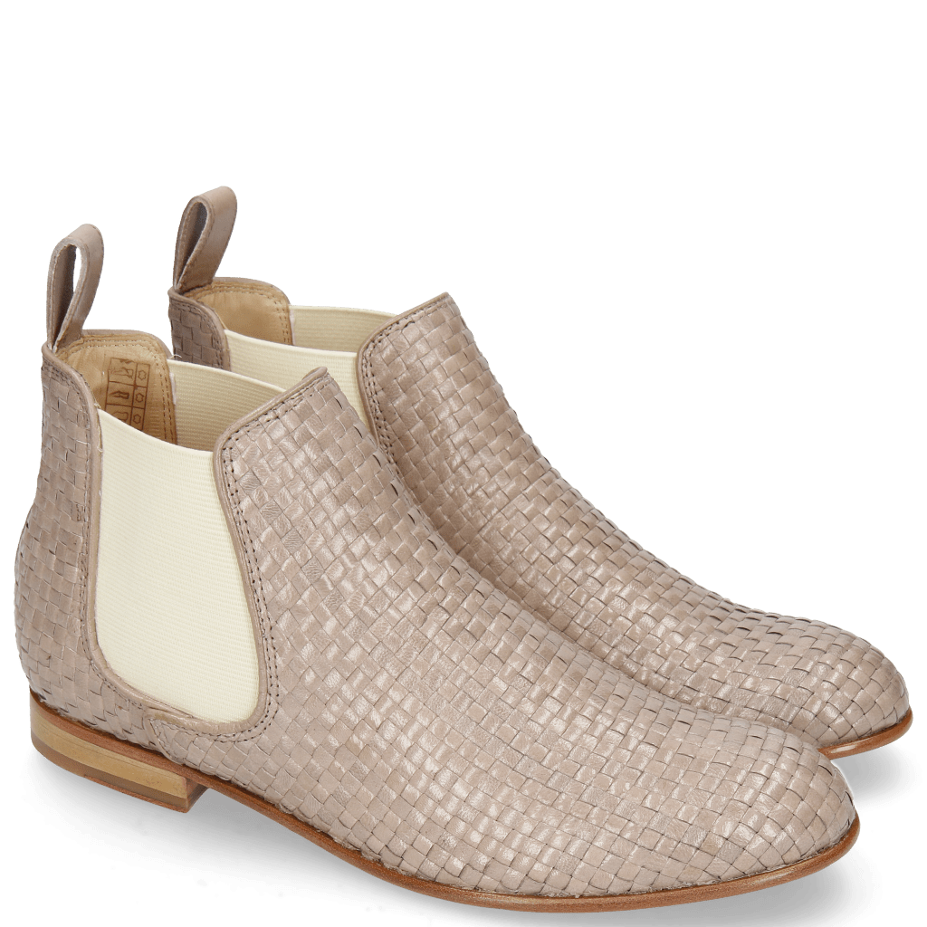 Ankle boots Sally 25 Woven Galviston Powder