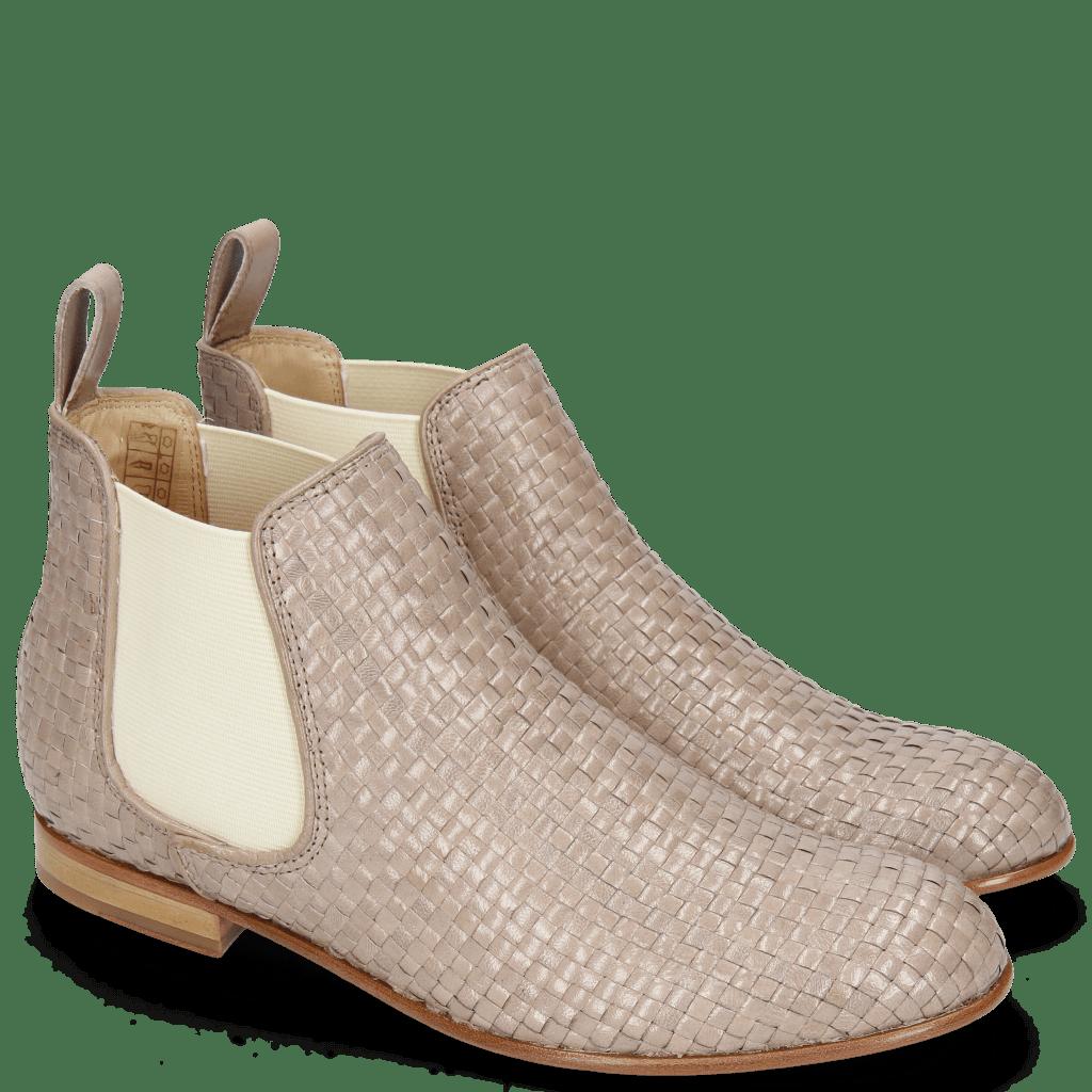 Ankle boots Sally 25 Woven Galviston Powder